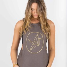 Paper Crane Surf Tank In Organic Cotton & Bamboo