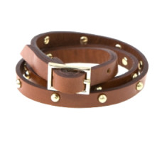 Wrap it leather bracelet in brown by Michelle Caley