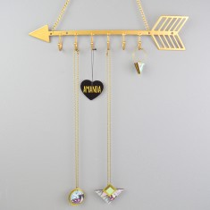 Personalised Gold Arrow Jewellery Hanger