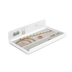 Umbra curio jewellery tray in white