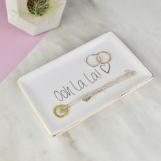 Oh La La gold Jewellery Dish