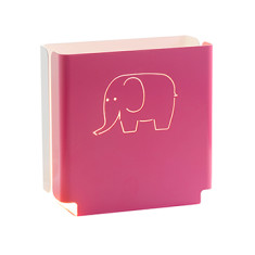 Kids' pink elephant night light