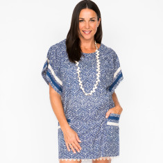Ady Filigree Navy dress with slip