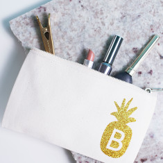 Personalised Pineapple Makeup Bag