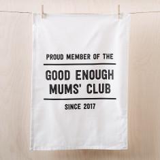 Personalised Good Enough Mums' Club tea towel