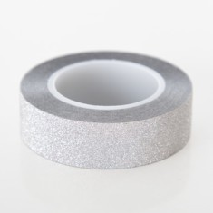 Silver glitter tape (2 pack)