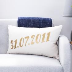 Personalised Wedding Date Cushion