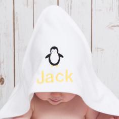 Personalised Penguin Baby Towel