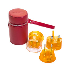Three Piece Travel Adaptor Set (Various Colours)
