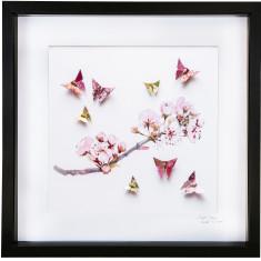 Plum Blossom framed art work