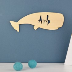 Personalised Kids' Whale Door Sign