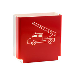 Kids' red firetruck night light
