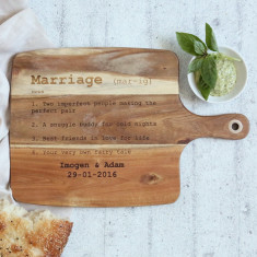 Personalised Wedding/Marriage Dictionary Definition wooden chopping board