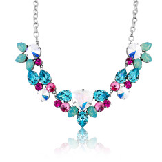 Statement trilliant necklace with Swarovski stones