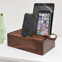 All inclusive Naturals medium Walnut docking and charging set