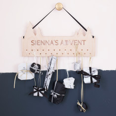 Personalised Christmas Advent Calendar Hanger