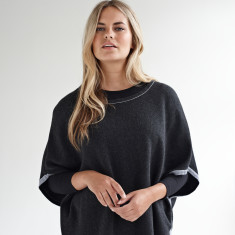 Charlie Lux - Reversible Poncho with Lurex