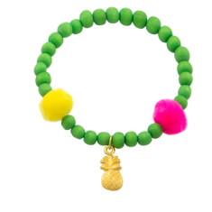 Green Pineapple Beach Bracelet