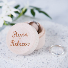 Personalised Couple's Ring Box