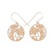 Tiny 24ct gold-plated wattle earrings