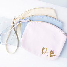 Personalised Initials Pastel Makeup Bag
