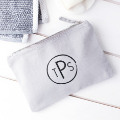 Personalised Circular Monogram Wash Bag