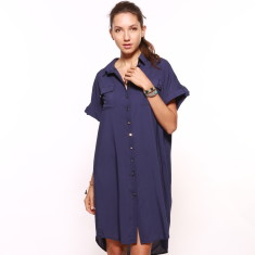 Navy Shirt Dress (BUY ONE GET ONE FREE)