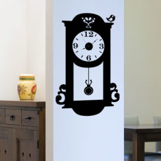 Pendulum clock wall decal