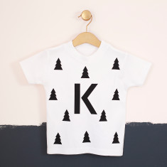 Personalised Kids Christmas Tree Woodland T-Shirt