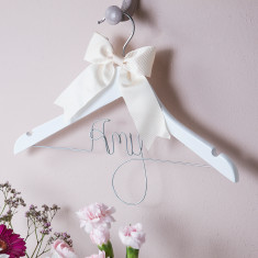 Personalised girls' hanger