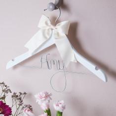Personalised girls' hanger