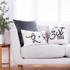 Personalised Couple's Cushion Set