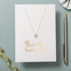 Beautiful Bridesmaid Card And Necklace Set