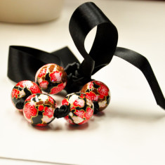 Paper Bracelet/Necklace - Black Cherry