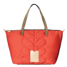 etc by Orla Kiely big zip shopper in quilted stem