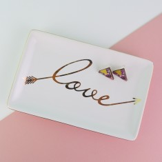 Love arrow gold Jewellery Dish
