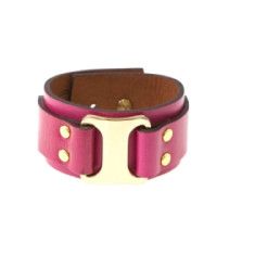Buckle up cuff in hot pink by Michelle Caley