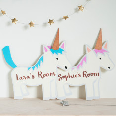 Unicorn Door Sign or Wall Plaque