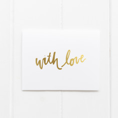 Gold Foil Love Specific Greeting Cards