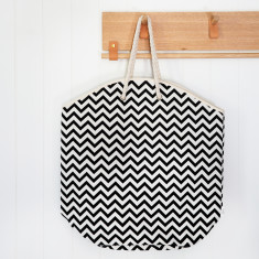 Extra large chevron tote