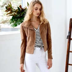 Avery Suede Biker Jacket