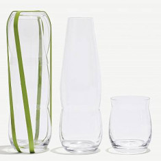 Sia Mai feltflaske picnic water bottle with drinking glass