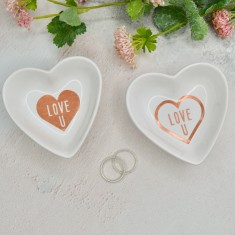 Heart Jewellery Dish - Love U