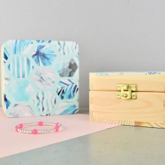 Tropical Wood Jewellery or Keepsake Box