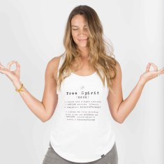 Free Spirit Text Tank - Organic Cotton / Bamboo