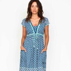 Amber tile navy dress