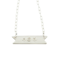 xox banner necklace