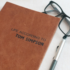 Bespoke personalised leather diary 2018