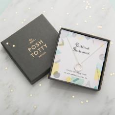 Personalised Bridesmaid Necklace Giftbox