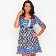 Tyra moroccan navy & sky dress